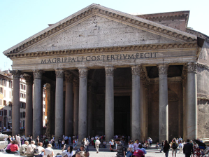 Roman Pantheon - a concrete building